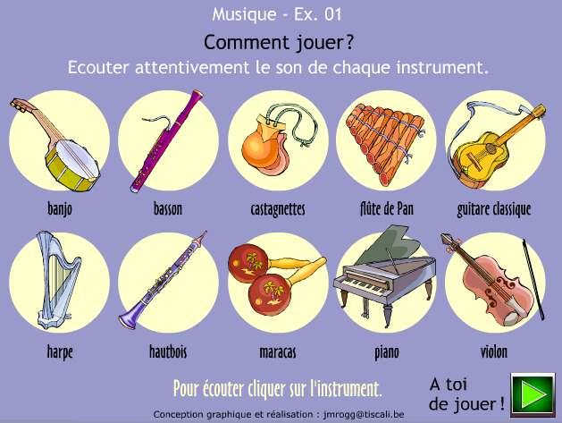 noms de quelques instruments de musique MUSIQ02