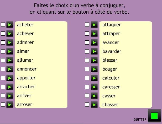 Logiciels Educatifs Mac Conjuguer Au Passe Simple Les Verbes Du Premier Groupe
